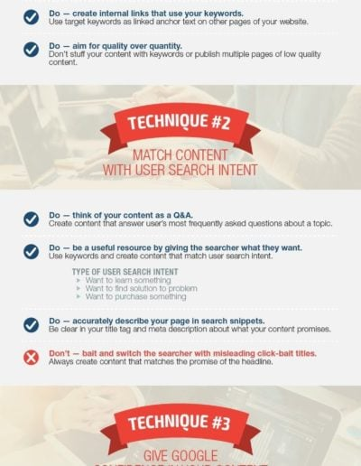 GOOGLE RECOMMENDED SEO INFOGRAPHIC
